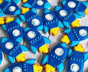 Cohetes theme Cookies
