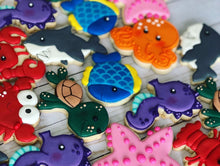 Load image into Gallery viewer, Under the sea theme Cookies
