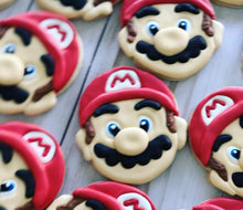 Load image into Gallery viewer, Mario theme Cookies