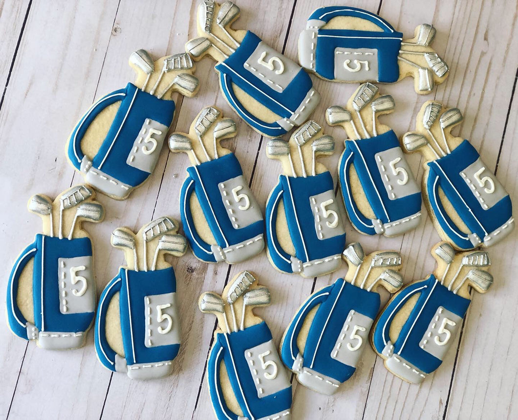Golf bag theme cookies