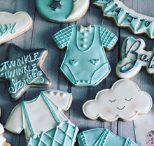Load image into Gallery viewer, Boy Baby shower cookies
