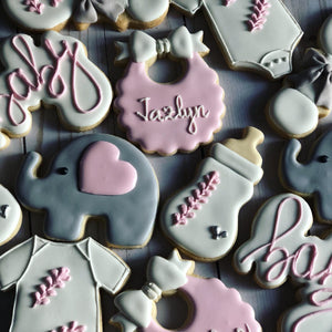 Elephant Baby shower cookies