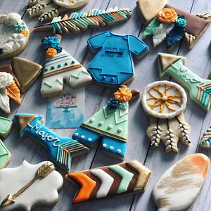 Baby shower Boho cookies