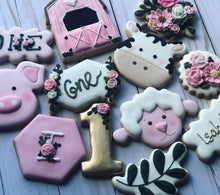 Load image into Gallery viewer, One year old Animal Farm Cookies