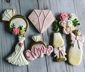 Bridal shower cookies gift