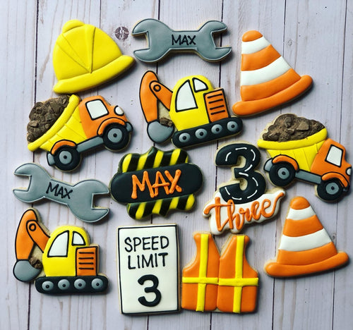 Construction theme cookies