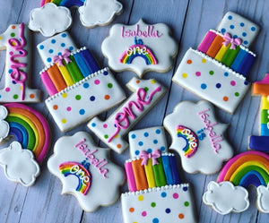 One year old rainbow birthday Theme Cookies