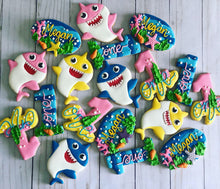 Load image into Gallery viewer, Girl Baby shark Cookies