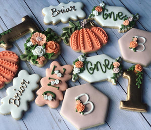 One year old birthday Theme Cookies