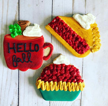 Load image into Gallery viewer, Fall Food theme Cookies