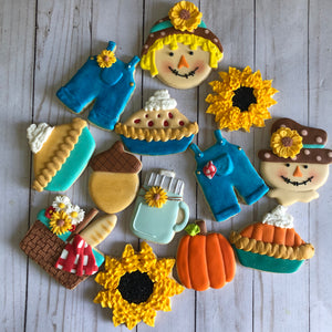 Baby fall theme Cookies
