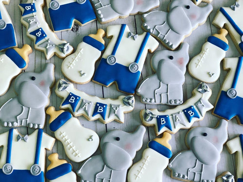 Elephant theme Baby shower cookies