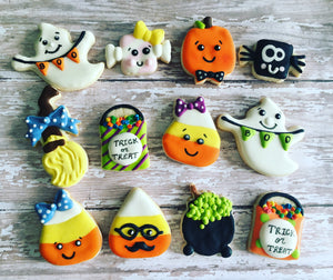 Mini Halloween cookie theme