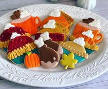 Load image into Gallery viewer, Thanksgiving food theme Cookies