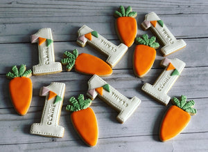 Carrot and numbers  Cookies
