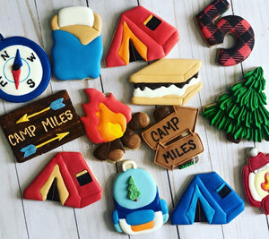 Camping Theme Cookies