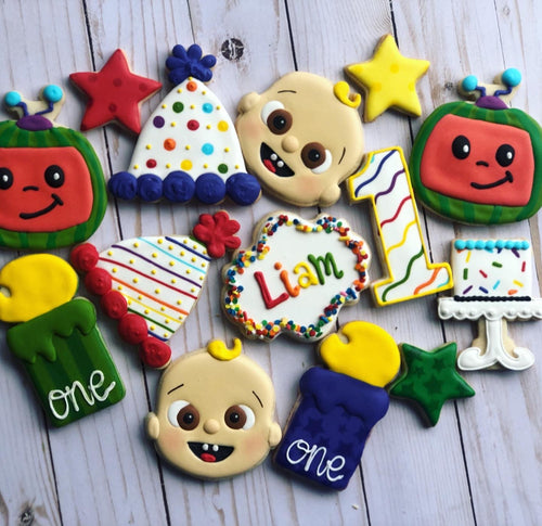 Cocomelon Theme Cookies