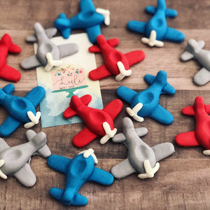 12 Airplanes Cupcakes or Cake toppers