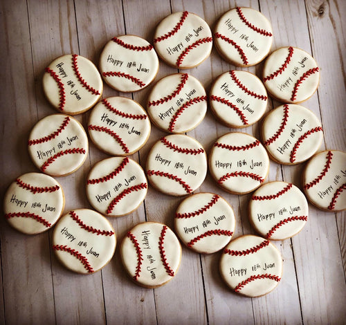 Baseball theme cookies