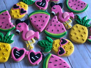 Tropical Summer theme Cookies