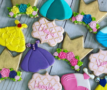 Load image into Gallery viewer, Princess Dresses Cookies