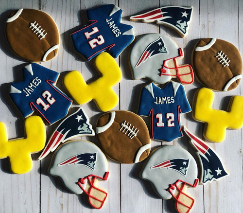 Football theme cookies