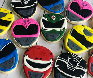 Power Rangers Theme Cookies