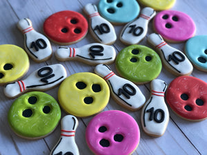 Bowling Theme Cookies