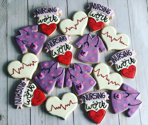 Nurse theme cookies