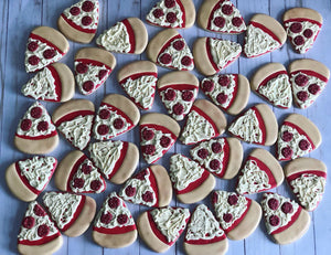 Pizza Party Theme Cookies