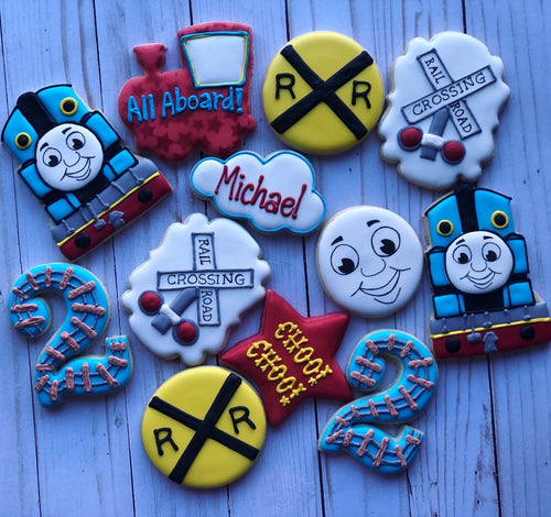 Train Theme Cookies