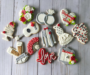 Flamenco Wedding cookies
