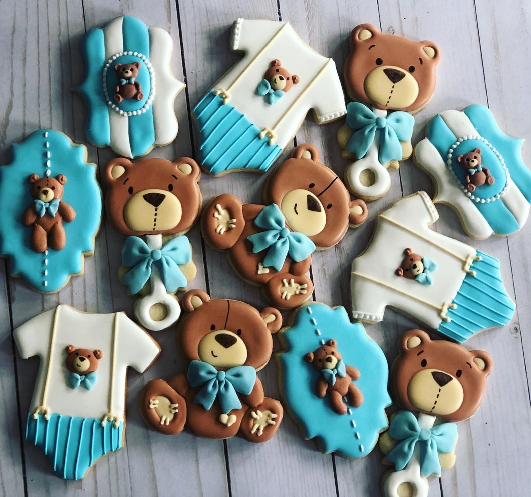 Bear Baby shower cookies