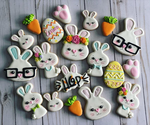 Easter cookies bunny design
