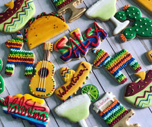 Load image into Gallery viewer, Mexican birthday cookie theme