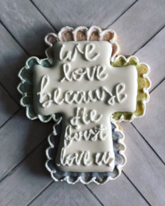 Easter cookie gift- cross