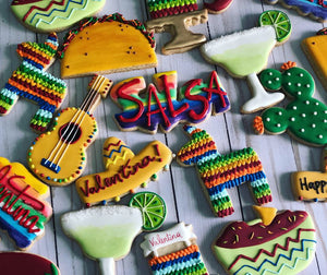 Mexican birthday cookie theme