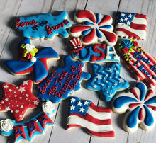 Load image into Gallery viewer, America theme cookie theme