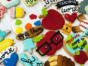School theme cookies