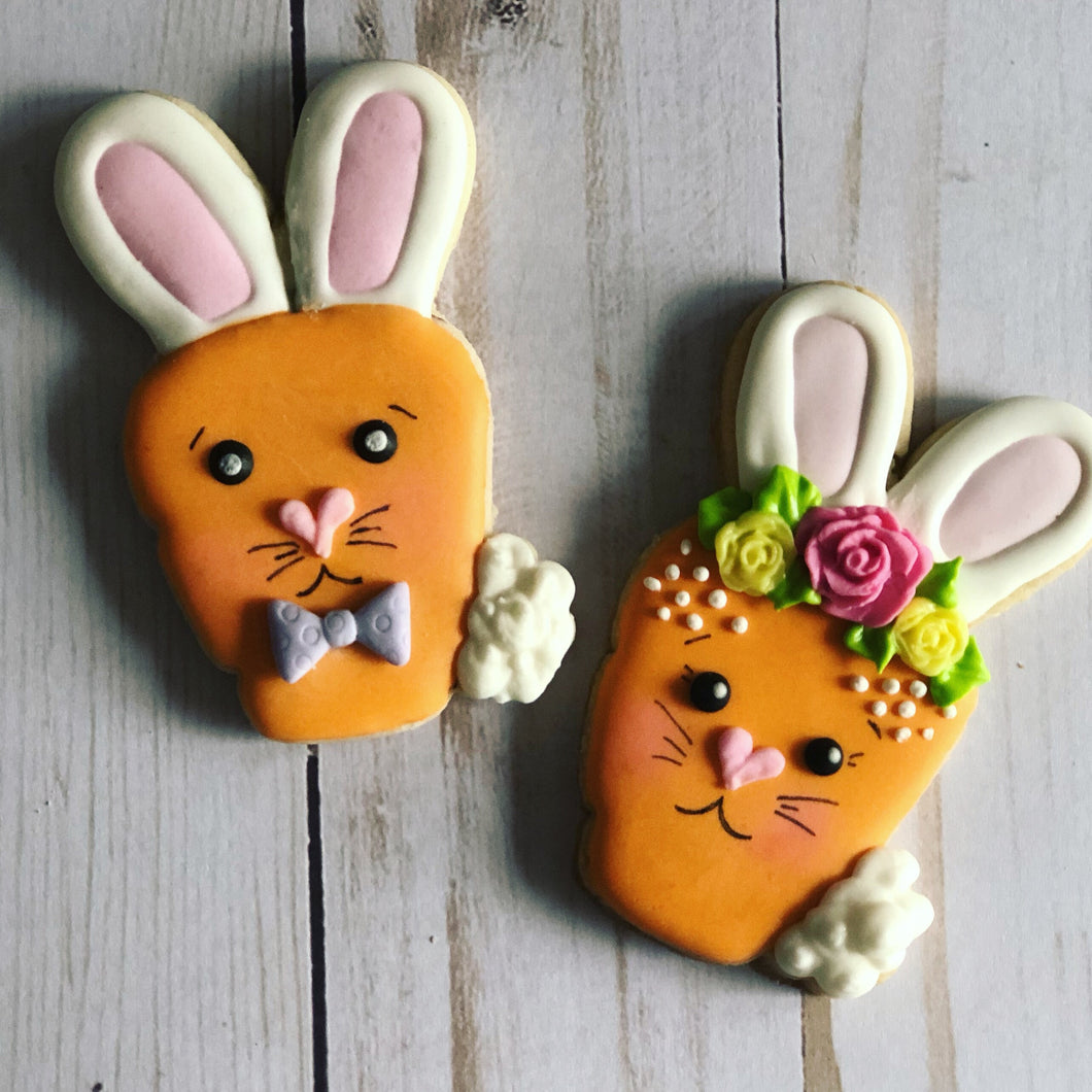 Easter cookie gift - carrots