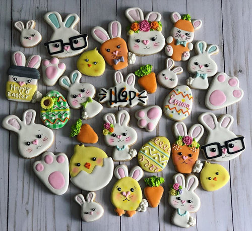 Easter cookies variety design