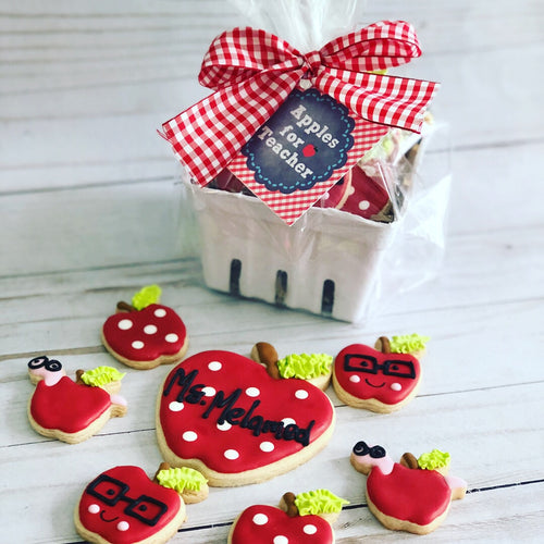 Apple for Teacher cookies set