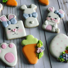Load image into Gallery viewer, Easter cookies square bunny design