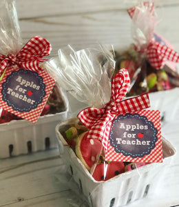 Apple teacher cookies