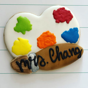 Art teacher appreciation week cookies