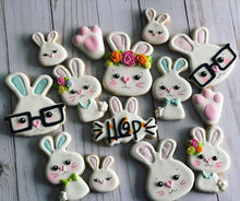 Load image into Gallery viewer, Easter cookies bunny design