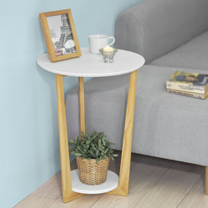 SoBuy® FBT52-WN Table Basse Ronde Guéridon Table d'Appoint Table Café - 3 pieds