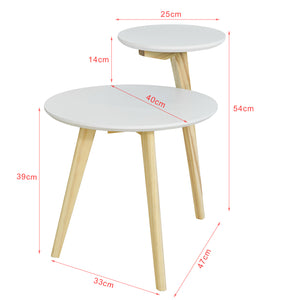2 Plateaux 3 Pieds SoBuy/® FBT53-WN Table Basse Design Table dAppoint Ronde Table Caf/é