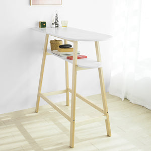 SoBuy® FWT59-WN Table de Bar Table Haute de Bar Mange-Debout Cuisine Table café Scandinave
