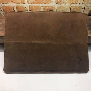 Indepal Leather ACCESSORY CH Tan Laptop Sleeve 13""
